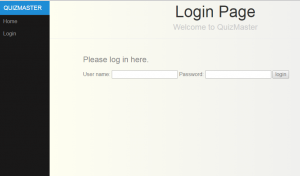 quizmaster login