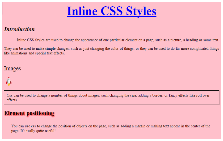 with css
