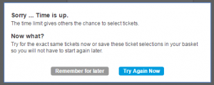 Ticketmaster inventory is only held for 2 minutes!