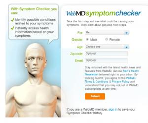 webmd user interface