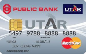 A debit card with a gold chip on the front