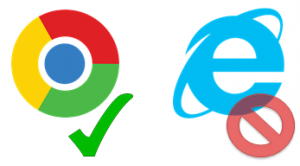Don't use Internet Explorer, it won't work! Use Chrome, Firefox or Edge.