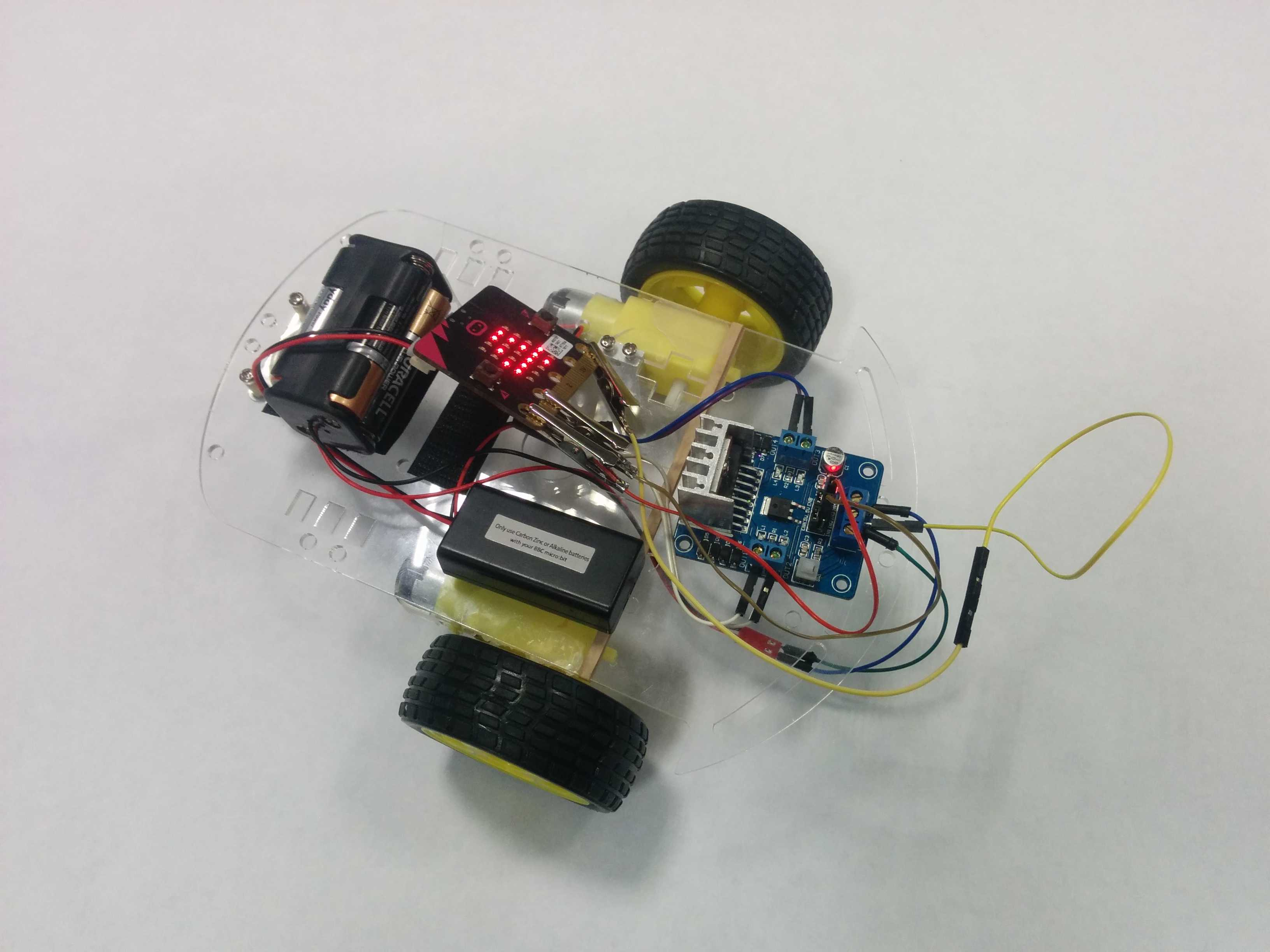 microbit radio controlled car tutorial  motorboard