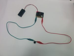 microbit with buzzer connected