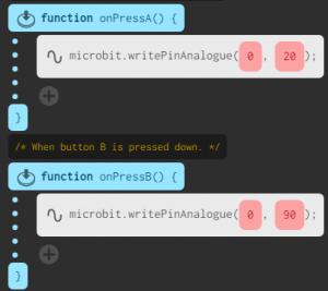 standard servo demo code
