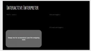 interactive interpreter slides