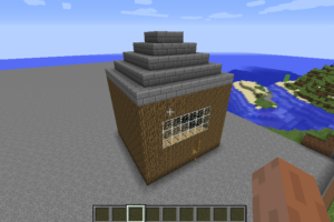 Coding a house in Minecraft using Python