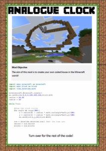 Minecraft Python Clock Tutorial