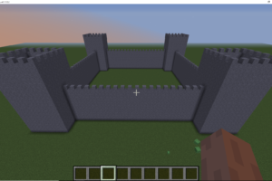 How to code a Castle in Minecraft using Python